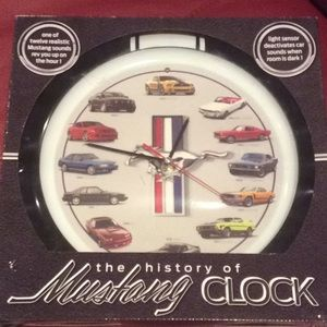 New Mustang Clock with sound